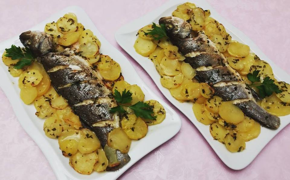 Peshk me patate ne furre
