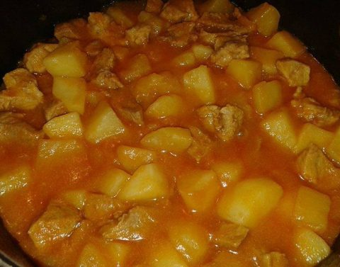 gjelle me patate dhe mish vici